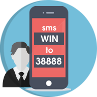 User sends SMS to join contest